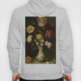Ambrosius Bosschaert - Still life with flowers in a Wan-Li vase (1619) Hoody