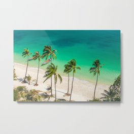 An Aerial view of a Scenic Beach in Thailand Metal Print