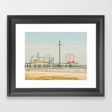 Pleasure Pier Galveston Fun Framed Art Print