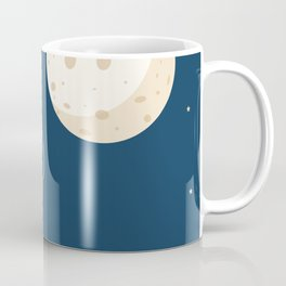 Fly to the moon _ navy blue version Coffee Mug