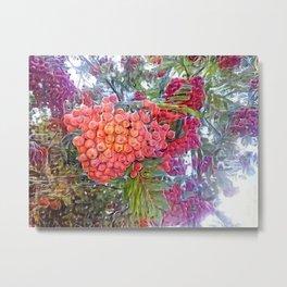Tropical Berries Metal Print