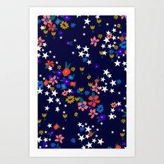 Star Floral Art Print
