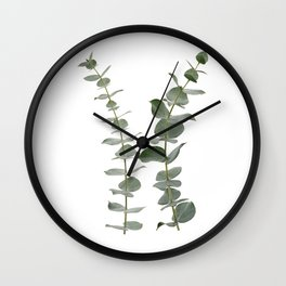 Eucalyptus Branches I Wall Clock