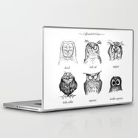 her Laptop & iPad Skins featuring Caffeinated Owls by Dave Mottram