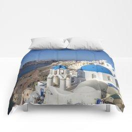 Oia, Santorini Comforters