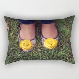 Yellow Flower Shoe! Rectangular Pillow