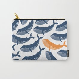 Whale Dance - Blue & Orange Carry-All Pouch