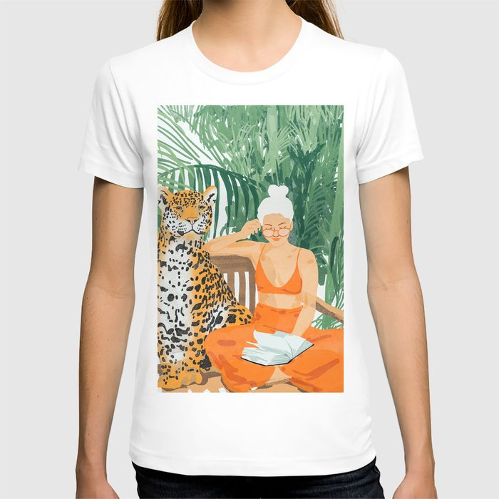 Jungle Vacay #painting #illustration T-shirt