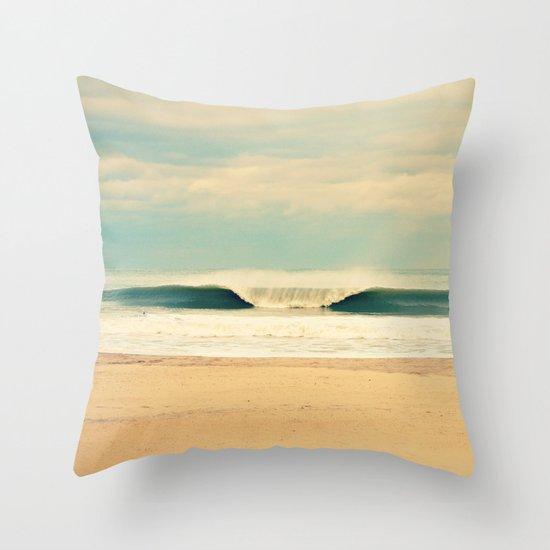 Winter Wave Throw Pillow