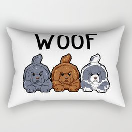 Newfoundland Dogs Woof Doggies Puppies Dog Gift Rectangular Pillow