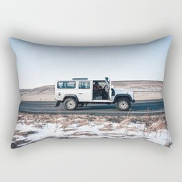 Day out shoting in Iceland Rectangular Pillow