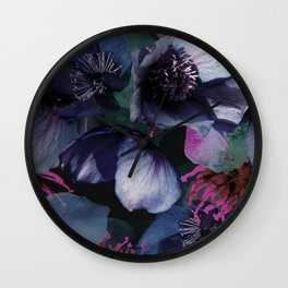 Moody Lenten Rose Wall Clock