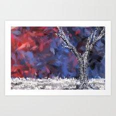 Silver Art Print