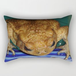 Bufo Bufo Clinging To The Edge Of A Swimming Pool Rectangular Pillow