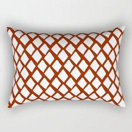Rhombus White And Red Rectangular Pillow