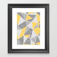 Pattern, grey - yellow Framed Art Print