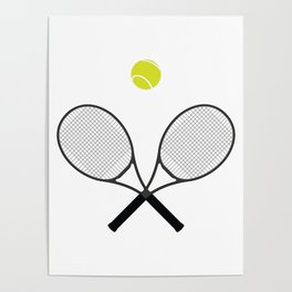 Tennis Racket And Ball 2 Poster