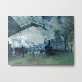 Claude Monet - Arrival of the Normandy Train, Gare Saint-Lazare Metal Print