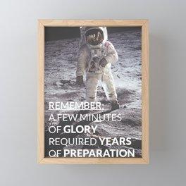 Motivational - Prepare For Glory (Moon Landing) Framed Mini Art Print