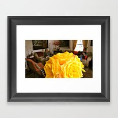 friendship rose Framed Art Print