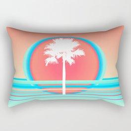 Tropical Sunset Palm Tree Rectangular Pillow