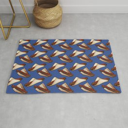 Australian Sausage Sizzle BBQ in Blue Rug