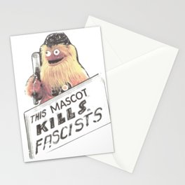 This Mascot Kills Fascists Stationery Cards
