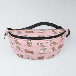English Bulldog Yoga in Pink Fanny Pack