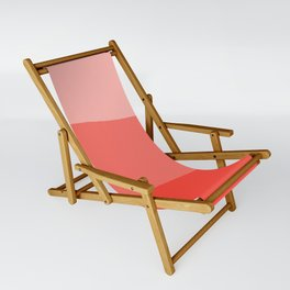 Living Coral Sushi Salmon Abstract Sling Chair