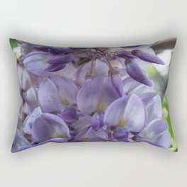 Wisteria sinensis in bloom Rectangular Pillow