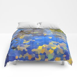 Gold dust on a mountain pond Comforters
