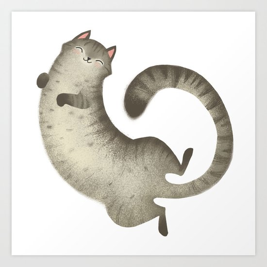 Happy Kitty Art Print