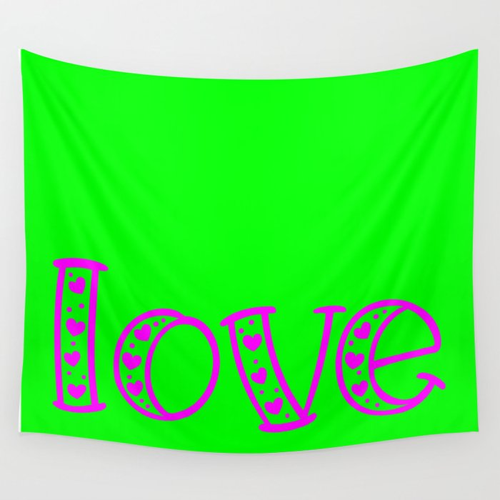 Love & Flashy Colors Wall Tapestry