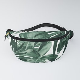 Tropical Jungle Leaves Pattern #4 #tropical #decor #art #society6 Fanny Pack