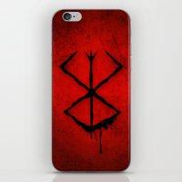 berserk iPhone & iPod Skins featuring The Berserk Addiction by DesignDinamique