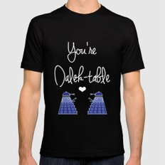 You're Dalek-table Doctor who Black MEDIUM Mens Fitted Tee