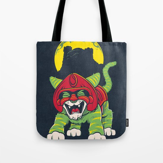 Battle Kitty's Mighty RAWR!  Tote Bag