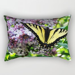 Timid Tiger Swallowtail Butterfly Rectangular Pillow