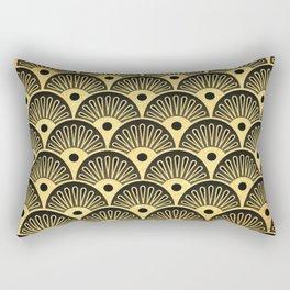 Deco Fans Rectangular Pillow