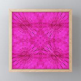 Pink Motion Mandala Framed Mini Art Print