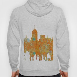 Fresno, California Skyline - Rust Hoody