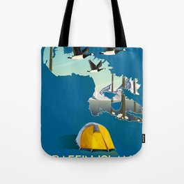 Baffin island Canada travel poster, Tote Bag