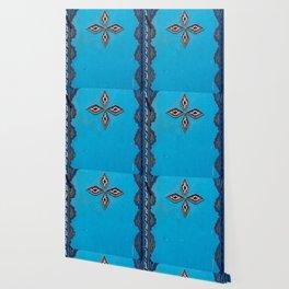 Blue Door in Chefchaouen, Morocco Wallpaper