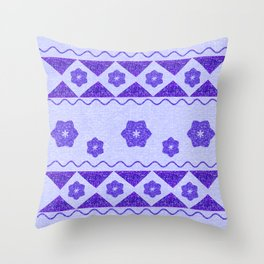 Native Purple Throw Pillow