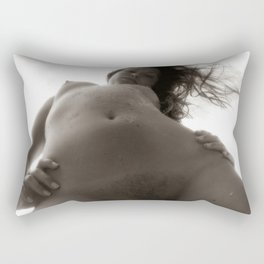 Nude Sexy Woman Naked Erotic Art Print Rectangular Pillow