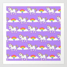 Rainbow Unicorns Art Print