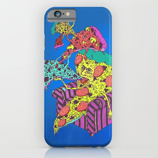 Pizza Eating Pizza - Blue Edition iPhone & iPod Case