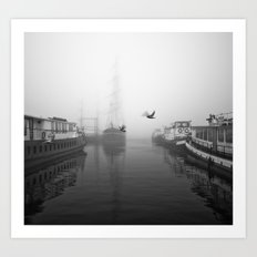 Birds in the Fog Art Print