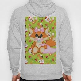 Foxy Christmas Baby Girl Hoody
