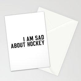 I Am Sad About Hockey Stationery Cards